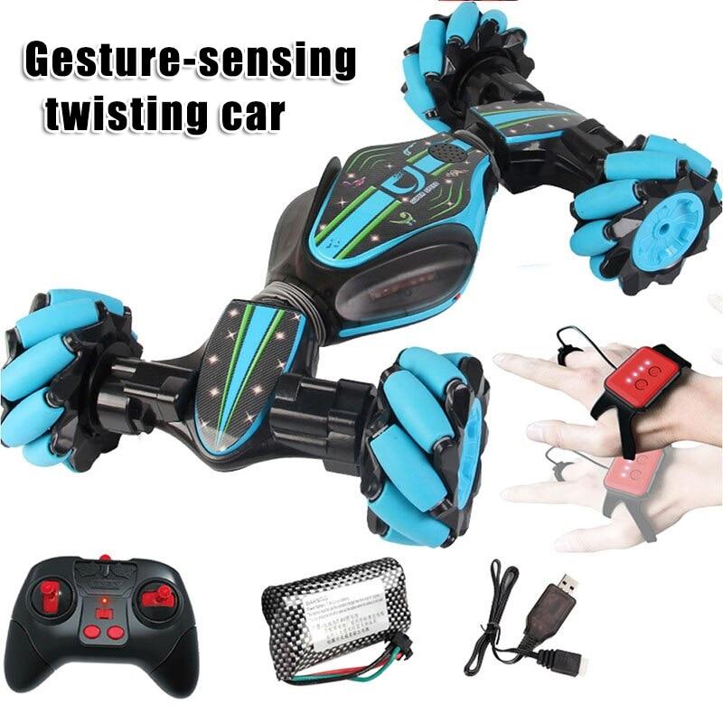 Weihnachten Stunt RC Auto Gesture Sensing Verdrehen Fahrzeug Drift Auto Fahren Spielzeug Geschenke SNO88