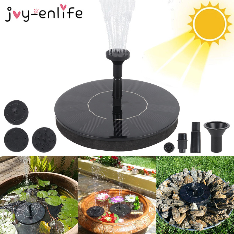 Solar Fountain Watering Kit Patio Landscape Floating Water Pump Outdoor Garden Swimming Pool Pond Waterfall Decoration Fountain