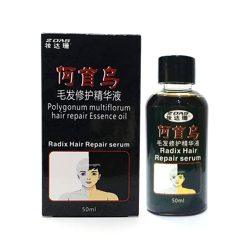traditional Chinese medicine cure white hair turn gray black liquid UFA governance juvenile white Hair Loss Product Treatments image