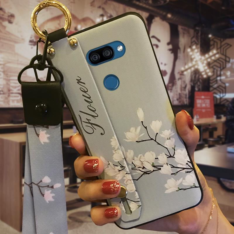 Wristband Soft Case Phone Case For LG K40S Fashion Design Phone Holder Durable Waterproof Soft