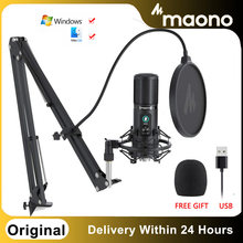 Original MAONO PM421 USB Mikrofon Mit One-Touch-Stumm Und Mic Gain Knopf Professionellen Nieren Kondensator Podcast Mic Youtube