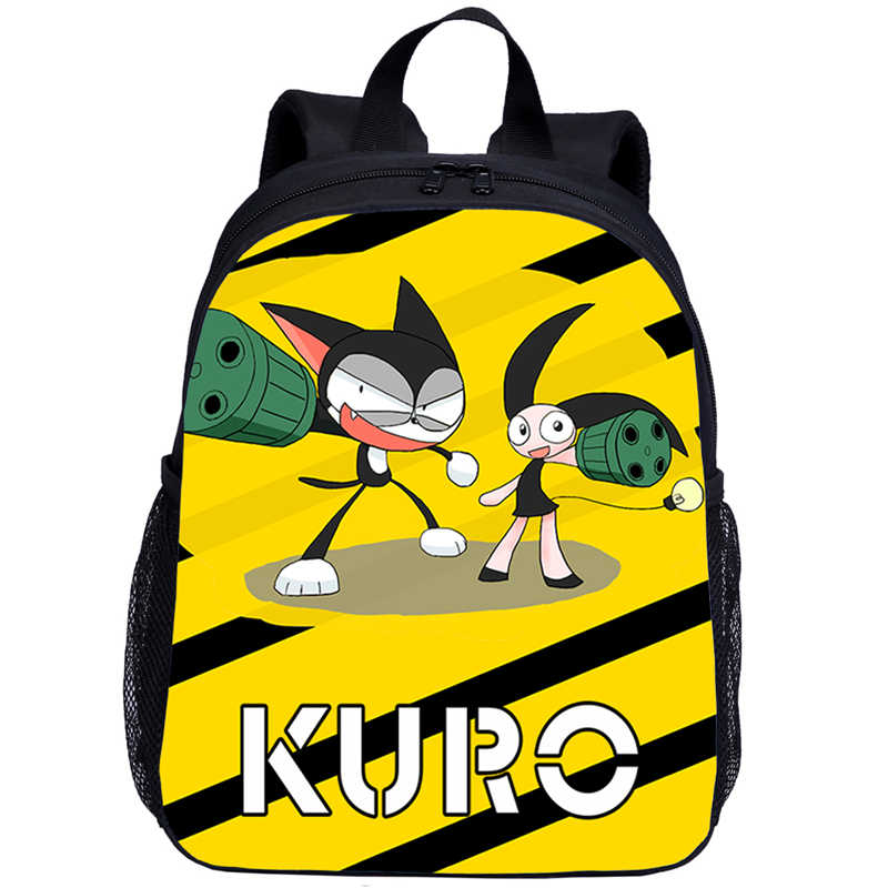 Mochila pequeña para niños, niñas, dibujos animados, dibujos animados, gato, letras, impresión en 3D, mochilas escolares, Mochila para niños
