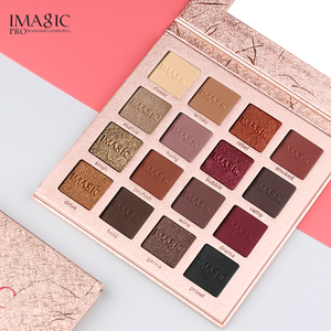 Image 3 - IMAGIC модные тени для век Палитра 16 цветов матовые тени для век Палитра стойкий макияж телесный косметический набор для макияжа отправка кисти