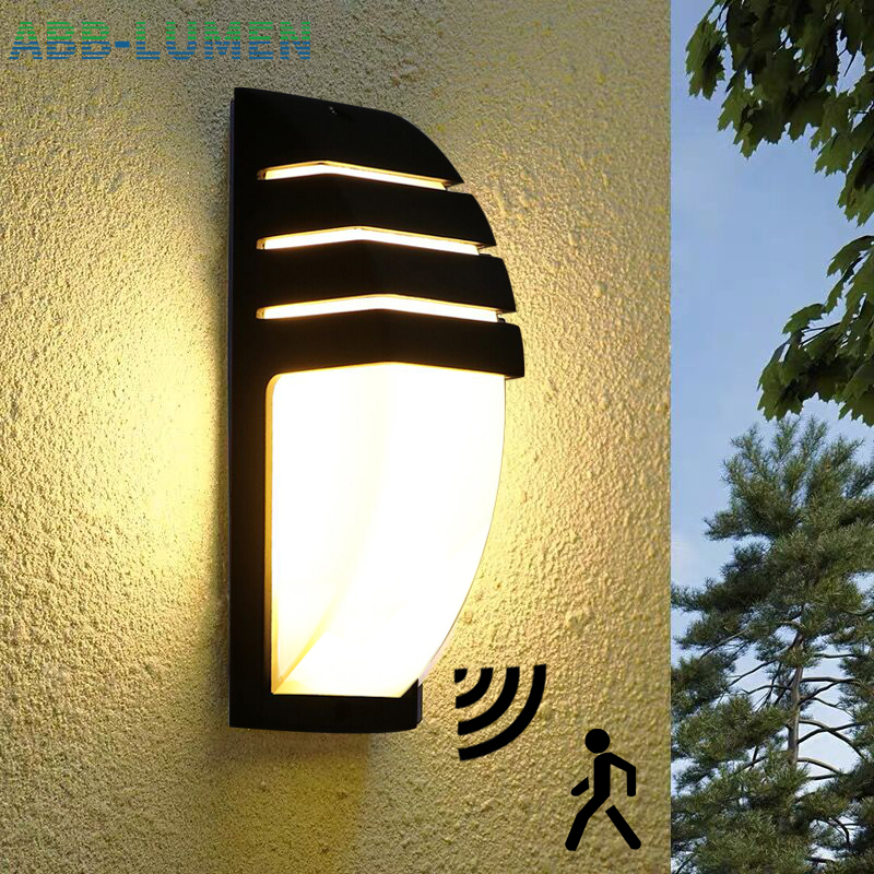 LED outdoor wall light waterproof Radar Motion Sensor led light outdoor wall lamp porch light exterior light outdoor lighting