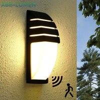 LED outdoor wand licht wasserdichte Radar Motion Sensor led licht outdoor wand lampe veranda licht außen licht außen beleuchtung