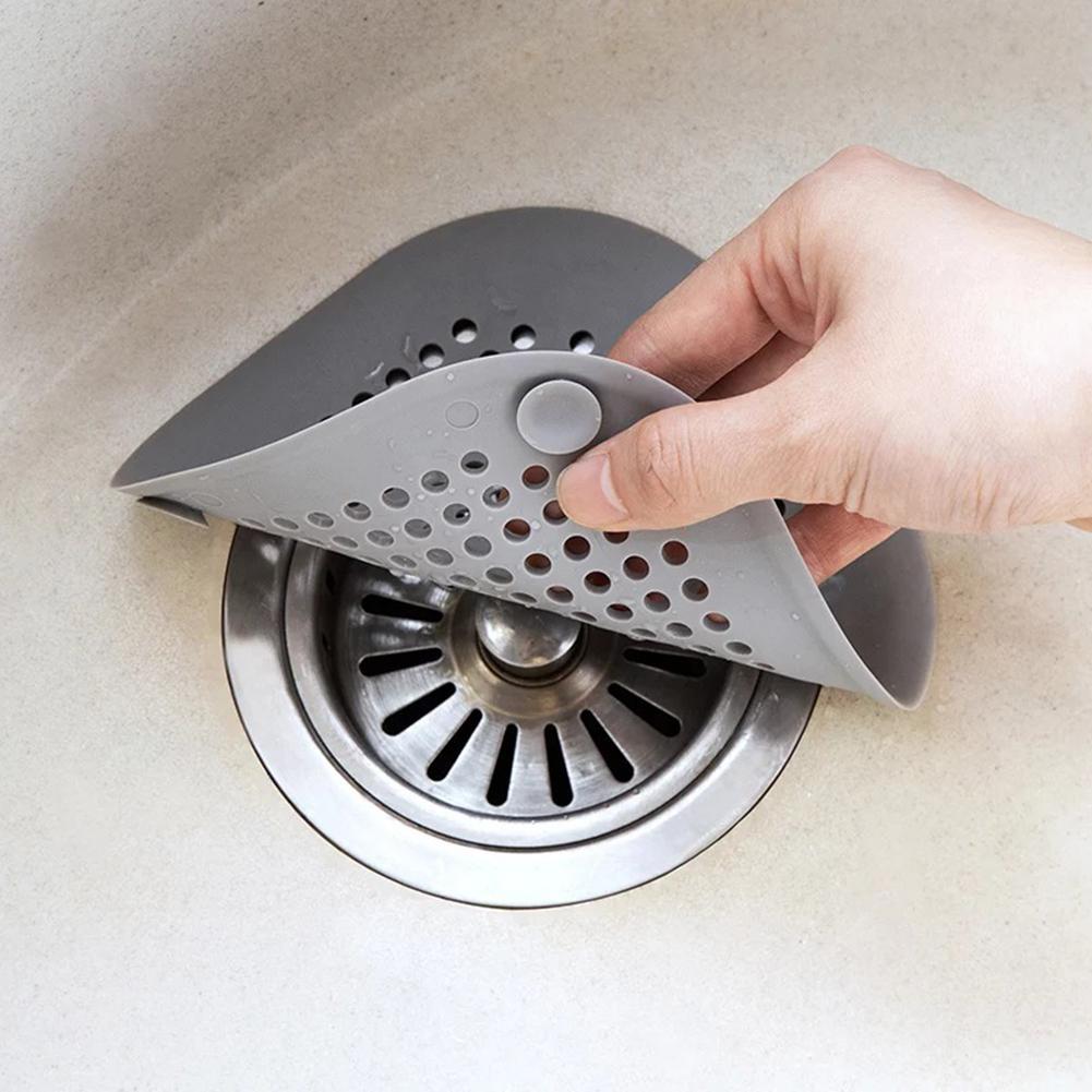 Filtro in Silicone per lavello da Bagno Cattura Capelli 2 Pezzi Filtro in Silicone Copertura con Ventosa Sinnper Filtro per Capelli per Vasca da Bagno e Vasca da Bagno