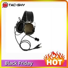 COMTAC TAC-SKY  comtac iii silicone earmuffs dual-pass version noise reduction pickup military shooting tactical headsetFG