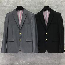 Blazer Men Jacket Coat Slim-Fit THOM TB And Fashion Autumn Formal Spring British Men's