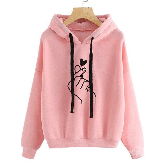 Hoodie Sweatshirt Jumper Hooded Womens Long Sleeve Pullover Tops Blouse Hoodies Women Aesthetic Oversized Худи Оверсайз 2