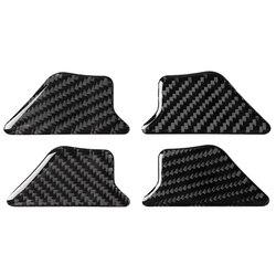 Dla Audi A3 S3 8V 2014 2019 samochód z włókna węglowego przednia wewnętrzna tylna klapka miska z uchwytem pokrywa osłonowa naklejki samochód stylizacji w Naklejki samochodowe od Samochody i motocykle na