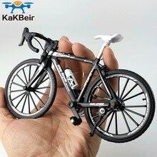 Kakbeir 1:10 liga modelo de bicicleta diecast metal dedo mountain bike corrida brinquedo curva estrada simulação coleção brinquedos para crianças