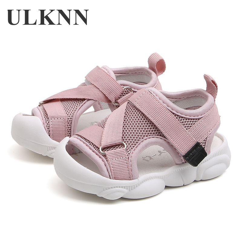 ULKNN Summer Infant Toddler Shoes Baby Toddler Sandals Non-Slip Breathable Soft Kid Anti-collision Shoes For Child 1-6 Years Old
