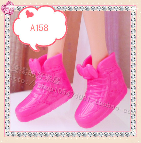 1/6 Doll Shoes Mix style High Heels Sandals Boots Colorful Assorted Shoes Accessories For Barbie Doll Baby Xmas DIY Toy 23