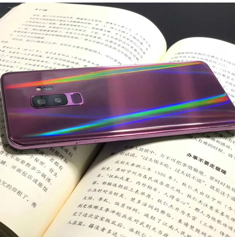 For Samsung Note8 Note9 Note10 Note10Pro S8 8P S9 S9P Aurora Transparent Back Film Mobile Phone Protective Back Soft Film