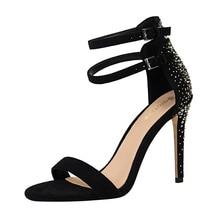 цена на Rhinestones Sandals Lady Dress Shoes Women Pumps Festival Party Wedding Shoes Formal Pumps Nightclub Stilettos High Heels FIS244