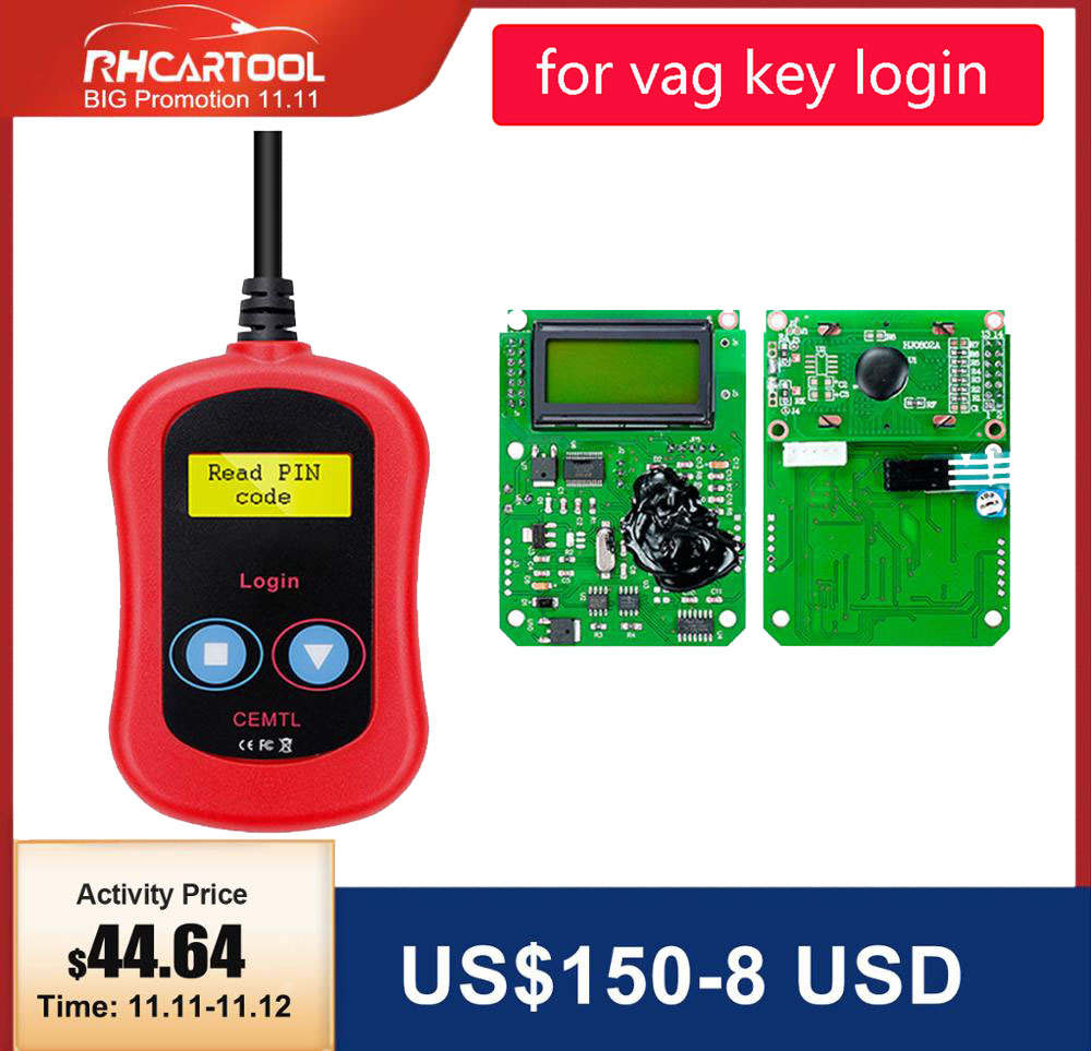 OBD2 Diagnostic FOR VAG Pin Code Reader Auto Key Programmer OBD2 For Vag Key Login Car Diagnostic Tool Code Reader Free Shipping