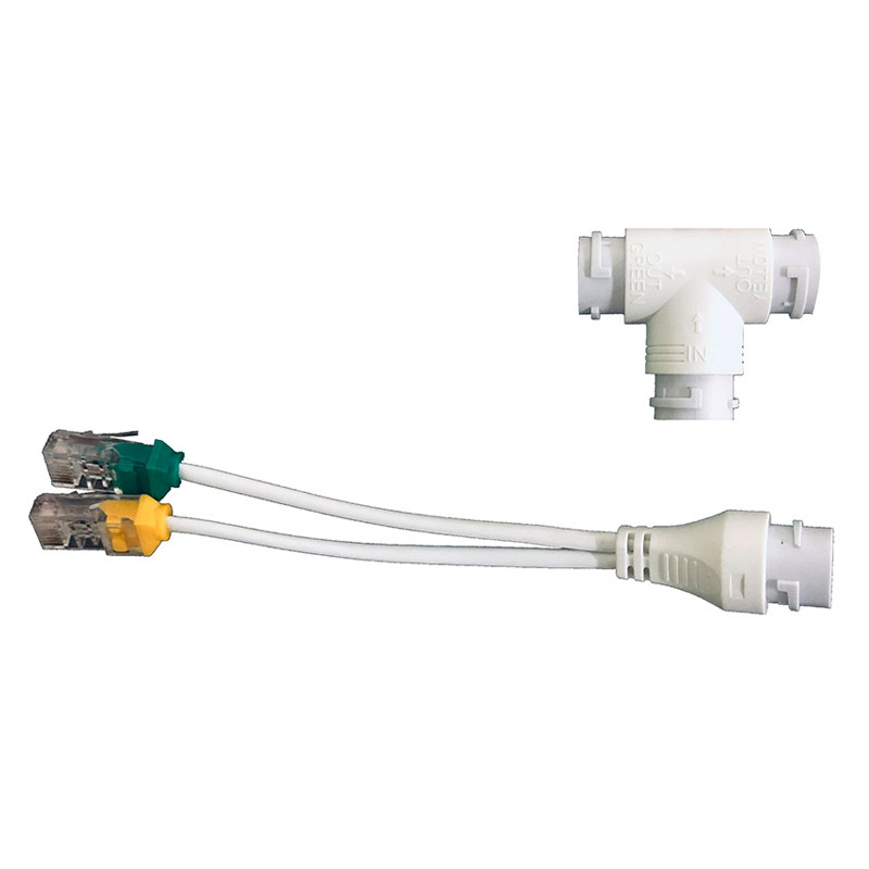 Connector-Head Network-Cabling-Connector Poe-Splitter Security-Camera RJ45 for Install
