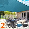 2X2/4/5/6M Black Blue Sun Shade Canopies Sails Outdoor Camping Hiking Yard Garden Shelters Sun Screen Cover Waterproof Cloth