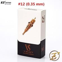EZ v select agujas para tatuar, Cartucho para tatuar con delineador redondo, #12, 0,35mm, 20 unidades/caja