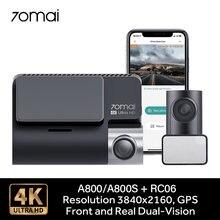 70mai A800/A800S Dash Kamera 4K Ultra HD UHD Dual-Vision Kamera GPS Gebaut-in 3840x2160 Auflösung