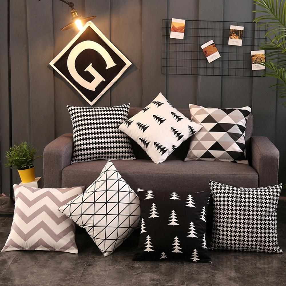 Nordic Style Geometric Pillowcase Household Simple Unique Home Decoration Accessories For Car