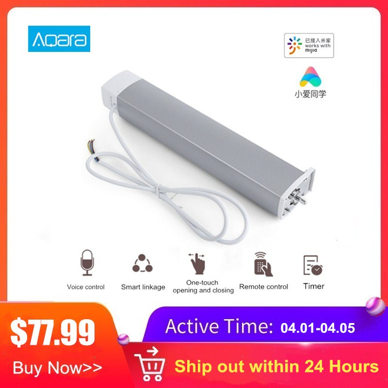 Aqara Smart Curtain Motor Intelligent Curtain Zigbee Mi Home APP Remote Control Wireless Timing Electric Curtain Motor
