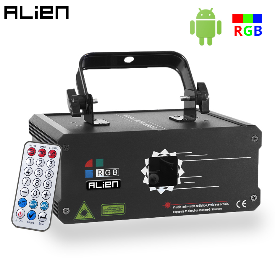 ALIEN 500mW 1W RGB Laser Stage Lighting Effect Bluetooth APP Remote Animation Laser Projector DMX Scanner DJ Disco Party Lights