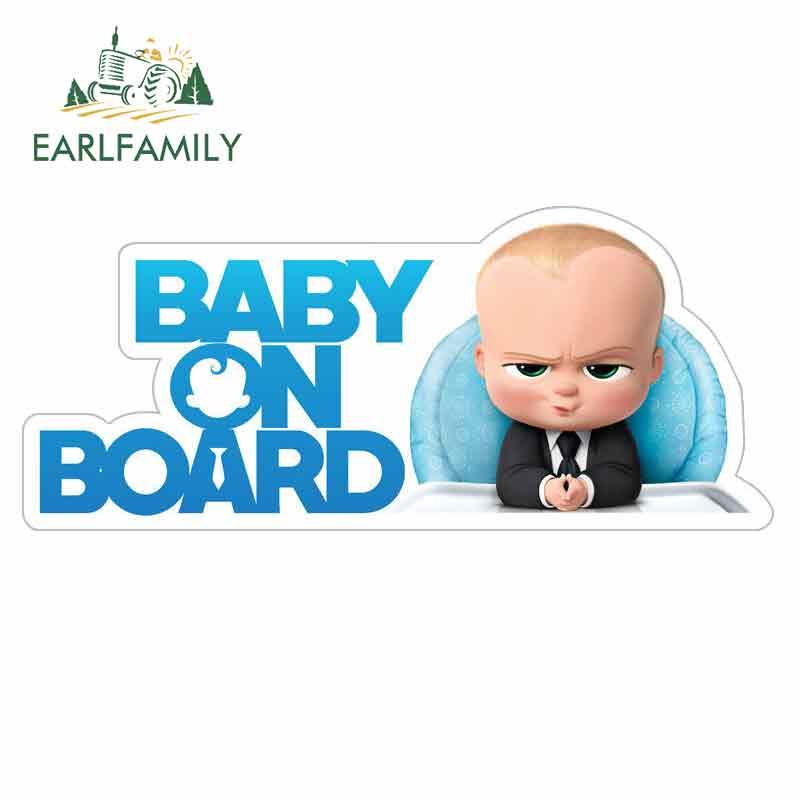 EARLFAMILY 13cm x 5.6cm bebek için kurulu karikatür araba çıkartmaları vinil JDM tampon gövde kamyon ekran cam tampon Windows