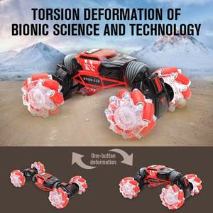 Image 3 - 4WD samochód kaskaderski zdalnie sterowany zegarek sterowanie gest indukcyjny odkształcalny elektryczny RC samochód do driftu transformator samochody zabawkowe dla dzieci z oświetleniem LED