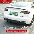 Para tesla modelo 3 accesorios parachoques alerón de carbono tesla modelo 3 tesla tres alerón tesla modelo 3 carbono/Accesorios