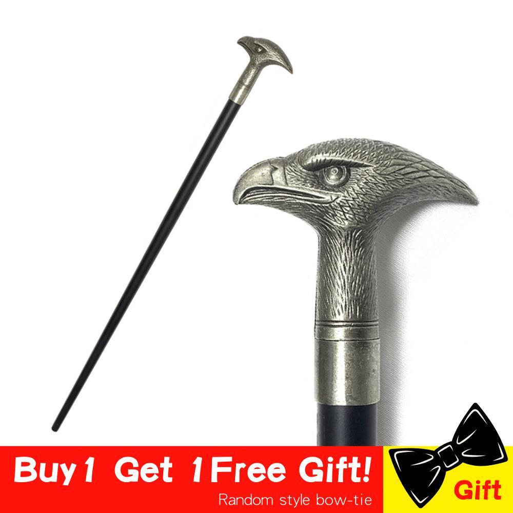 Fashion Eagle Walking Stick Cane Elegent Falcon Head Metal Cane Fashion Walking Canes Man Hand Free Cane Crutch For Men 92cm