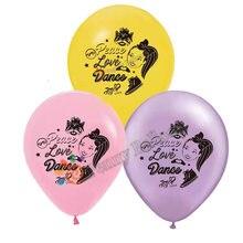 12 pçs/lote jojo JOJO siwa Balão Fontes do Partido de Aniversário Do Bebê Chuveiro Decorações Do Partido Tema Globos Brinquedos para As Crianças