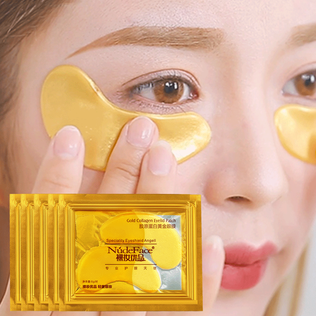 Cosmetics collagen eye zone mask Skin Care Crystal colagen eye mask Gold Eye patches Beauty under eye patches Korean 20pcs 4