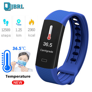 Image 1 - 2020 New Body Temperature Smart Band Men Women SmartBand Fitness Tracker Heart Rate Monitor Bracelet For Andriod IOS  Wristband