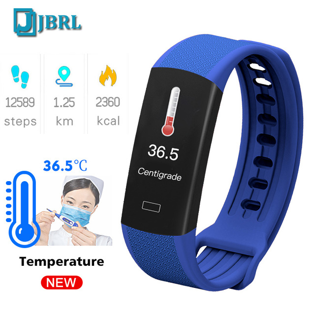 2020 New Body Temperature Smart Band Men Women SmartBand Fitness Tracker Heart Rate Monitor Bracelet For Andriod IOS  Wristband