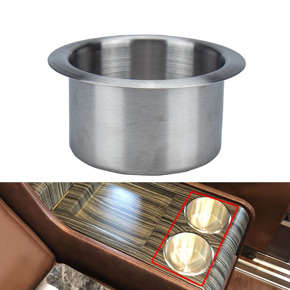 Hauteur : 10,2 cm Porte-gobelet en acier inoxydable pour camping-car Diam/ètre ext/érieur : 10,2 cm Diam/ètre int/érieur : 8,9 cm bateau