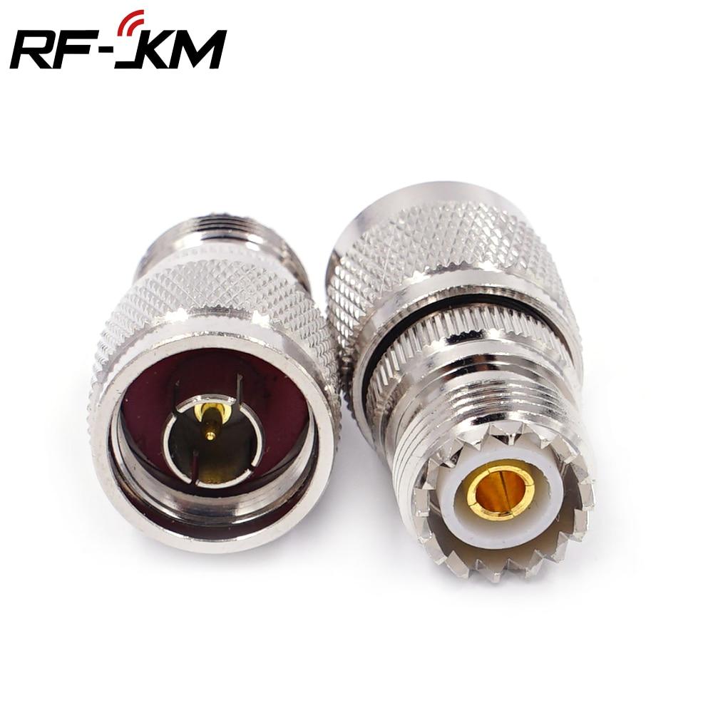 N Macho a PL259 Hembra SO-239 Convertidor de Conector Coaxial para Antena de Radio RF Greluma 3 Piezas N Macho a Conector Hembra UHF