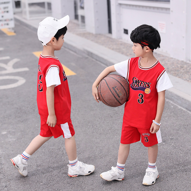 Childrenswear Children Football Set 2019 Summer New Style Girls BOY'S Suit Basketball Kindergarten Training Suit
