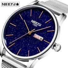 2020 NIBOSI Fashion Men Watches Top Brand Luxury Couple
