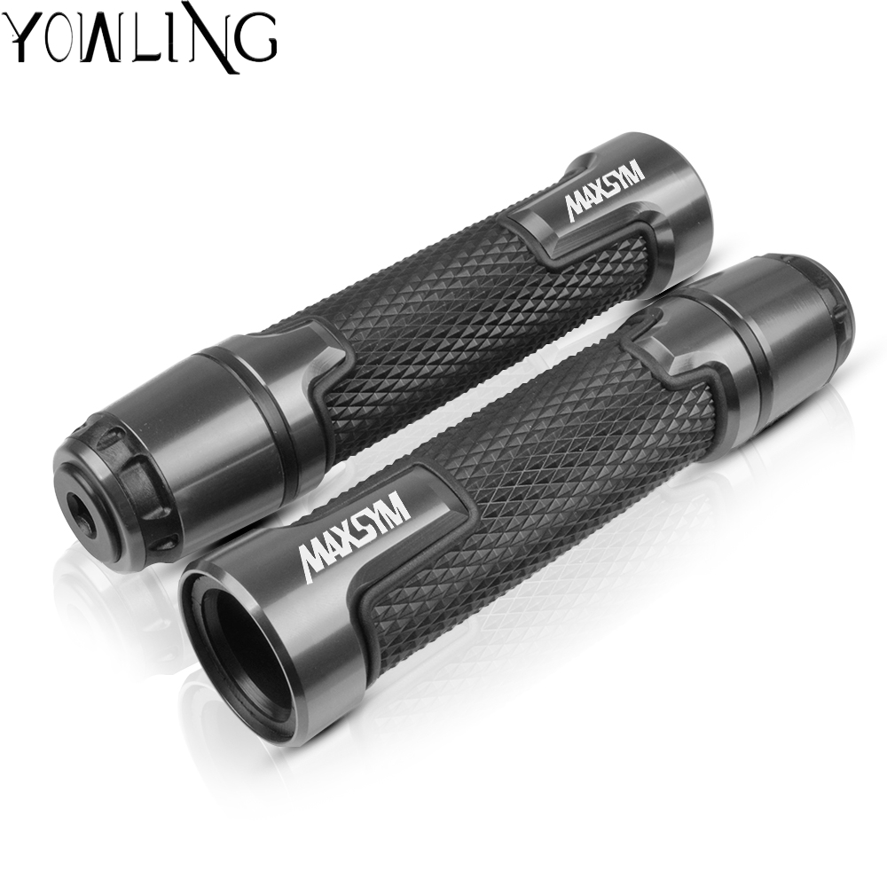 Motorcycle handlebar grips for <font><b>Sym</b></font> <font><b>Maxsym</b></font> <font><b>400i</b></font> 400/600 ABS 2011 2012 2013 2014 2015 2016 2017 CNC Aluminum scooter handle grip image