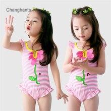 Little girls swimwear one piece for 2-8 years old