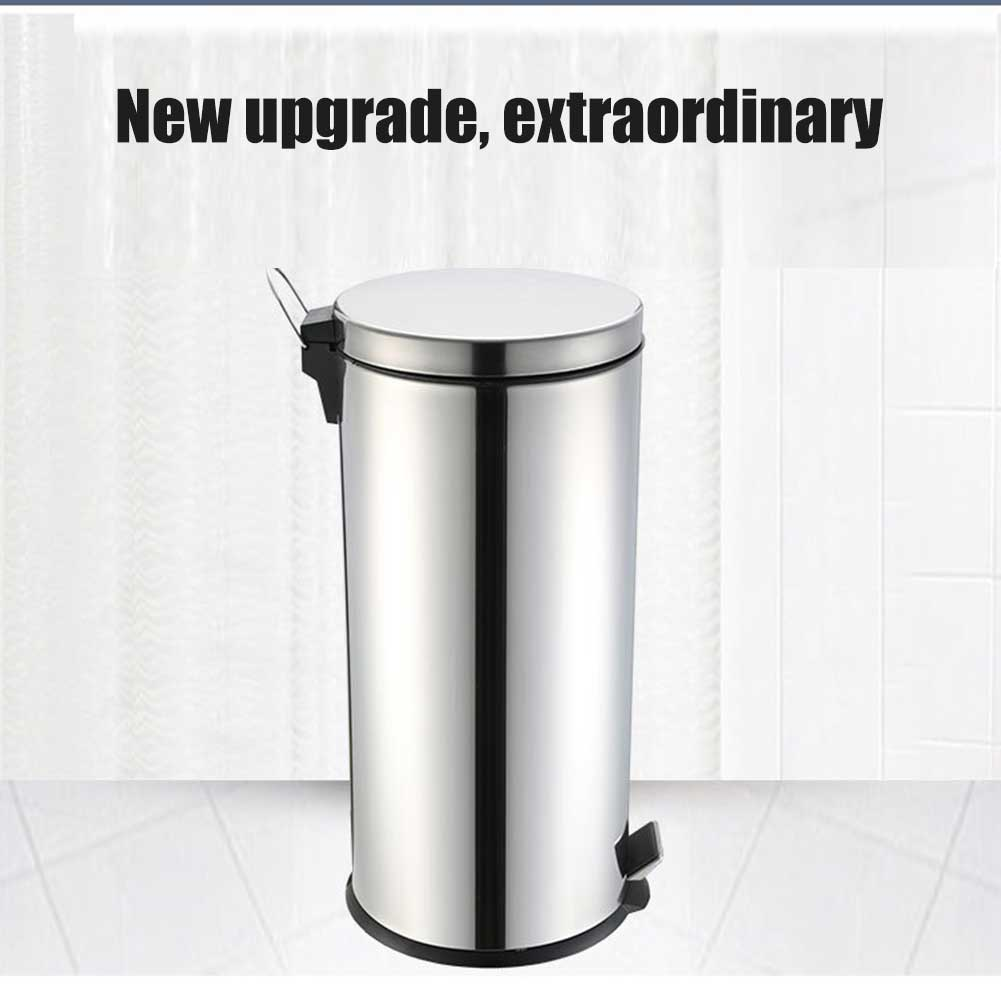 Newly 1pc 5l Rubbish Bin Stainless