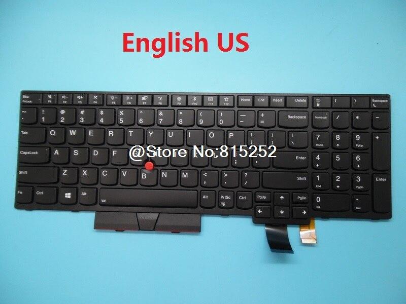 Keyboard For Lenovo For Thinkpad T580 P52S T570 P51S English US Japanese JP 01HX249 01HX289 01HX259 01HX219 Backlit New Original