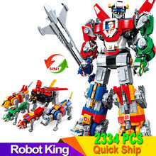 Voltron Robot King set Model Building Blocks Bricks Toys for Children birthday Gift 21311 16057(China)