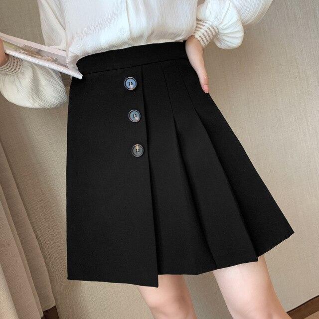 2020  pink skirt  white pleated skirt  white skirt  skater skirt 1