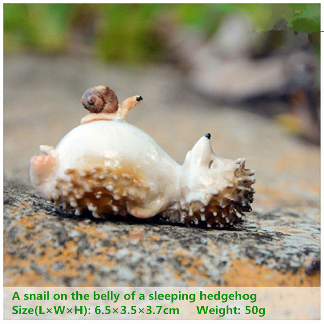 Everyday Collection Mini Fairy Garden Decoration Hedgehog Animal Figurine Ornament Tabletop Balcony Home Decor 4