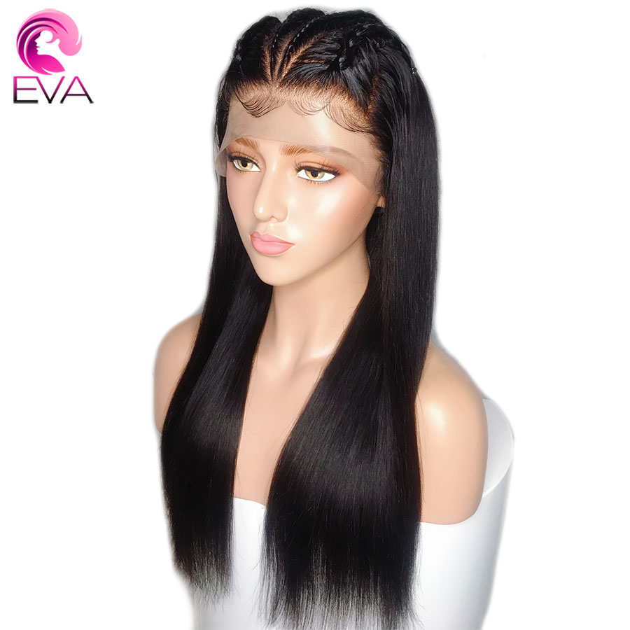 Eva Hair 13x6 Straight Lace Front Human Hair Wigs Pre Plucked With Baby Hair Glueless For Black Women Brazilian Remy Hair Wigs-in Lace Front Wigs from Hair Extensions & Wigs    1