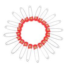 20 шт.% 2Flot DIY красный цвет безопасность булавки фурнитура сейф защита зажимы для ребенка уход душ ткань подгузник булавки брошь держатель