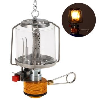 Mini Gas Lamp Outdoor Camping Lantern Tent Lamp Torch Hanging Glass Lamp Mini Camping  Portable Gas Light Camping Equipment 2