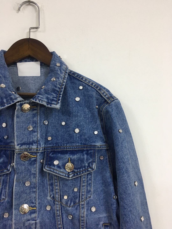 Femmes veste 2019 automne et hiver nouveau Rivet décontracté décoratif lavé Denim veste courte femmes - 4